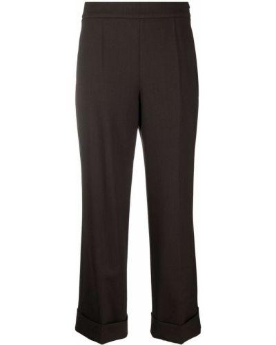 Укороченные брюки - коричневые Incotex