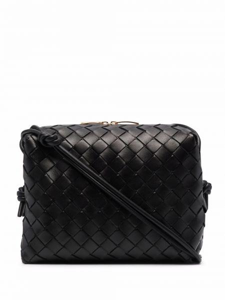 Кожаная сумка через плечо - черная Bottega Veneta