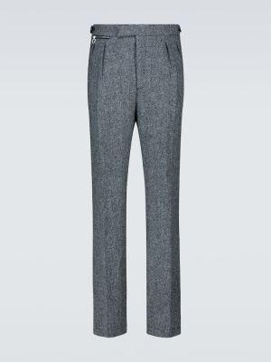 Czarne spodnie wełniane Raf Simons