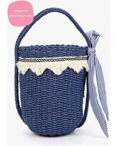 Соломенная синяя сумка Katomi