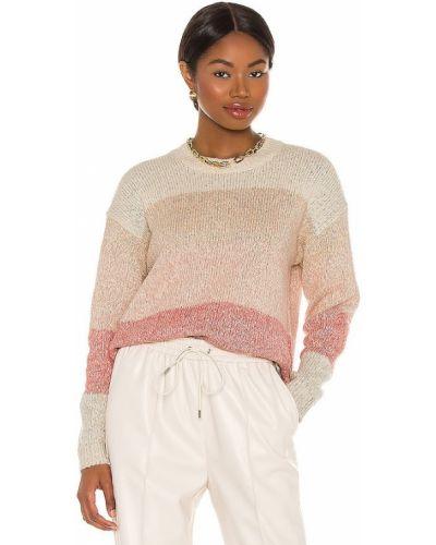 Klasyczny różowy sweter z akrylu Splendid