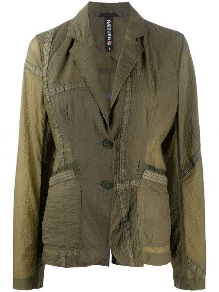 Нейлоновый зеленый пиджак на пуговицах с вырезом Raeburn