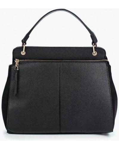 Черная кожаный сумка Jennyfer