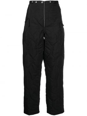 Шерстяные черные стеганые брюки с высокой посадкой Christian Wijnants