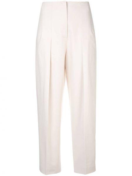 Классические брюки с завышенной талией с карманами Jil Sander Navy