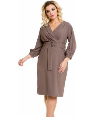 Платье с поясом с запахом через плечо Novita