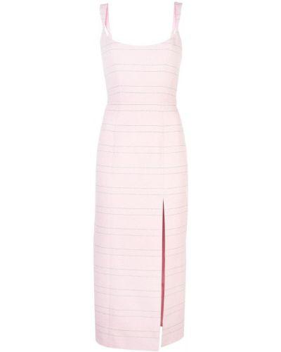 Приталенное розовое платье миди с вырезом на молнии Markarian