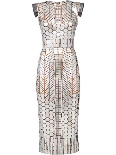 Платье на молнии приталенное Fendi