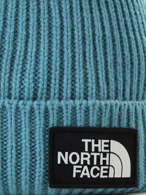 Вязаная шапка бини - синяя The North Face
