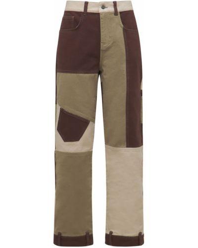 Коричневые джинсы с карманами Jaded London