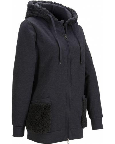 Флисовая куртка - серая Bonprix
