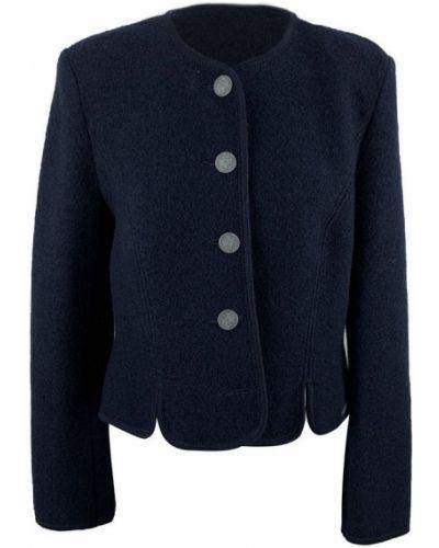 Niebieska kurtka wełniana Giesswein