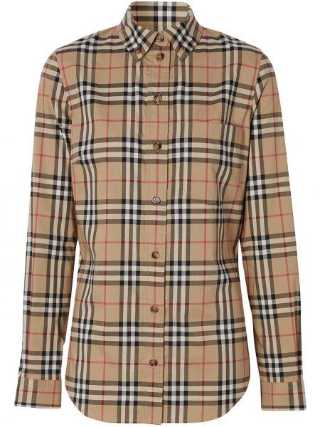 Рубашка в клетку - коричневая Burberry