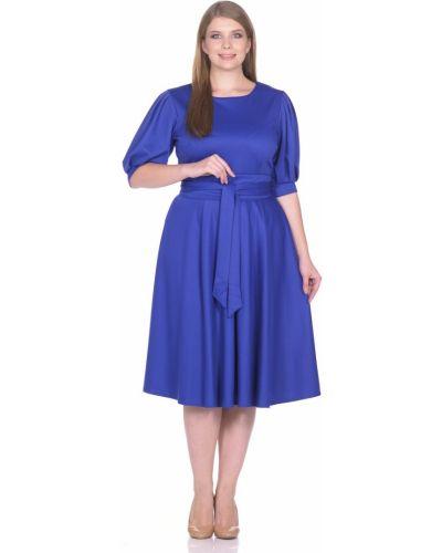Деловое платье с поясом со складками Rosa Blanco