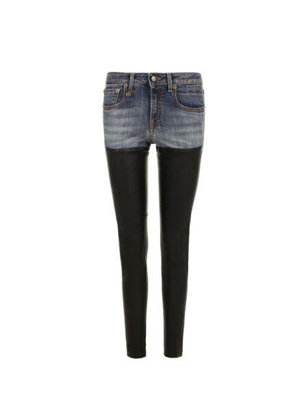 Облегающие зауженные джинсы - синие R13