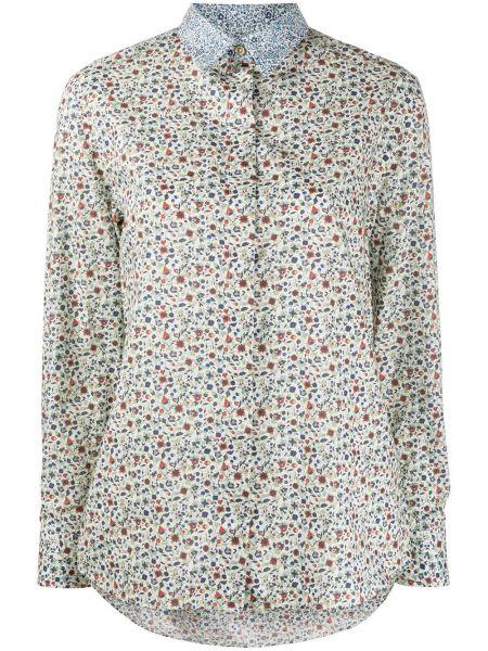 Хлопковая белая классическая рубашка с воротником на пуговицах Paul Smith