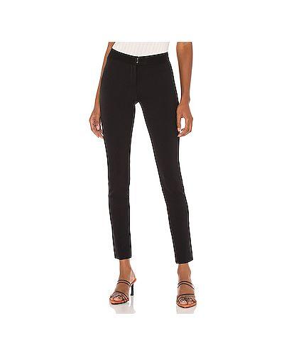 Нейлоновые черные брюки с поясом на крючках Veronica Beard