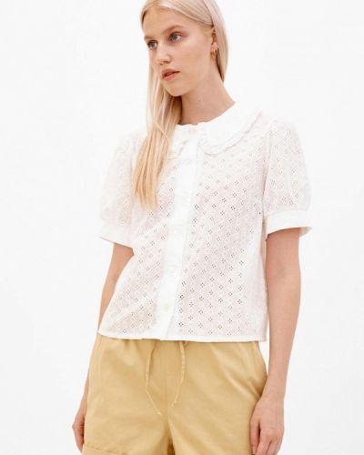 Блузка с короткими рукавами - белая Dorogobogato