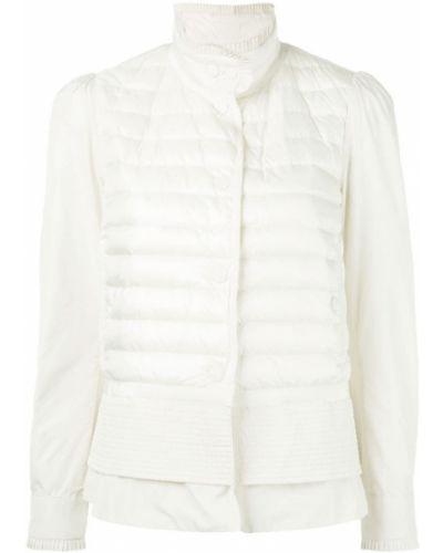 Стеганая куртка длинная на кнопках из полиэстера Moncler