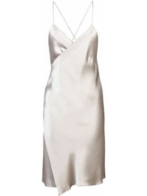 Платье мини атласное - желтое Michelle Mason