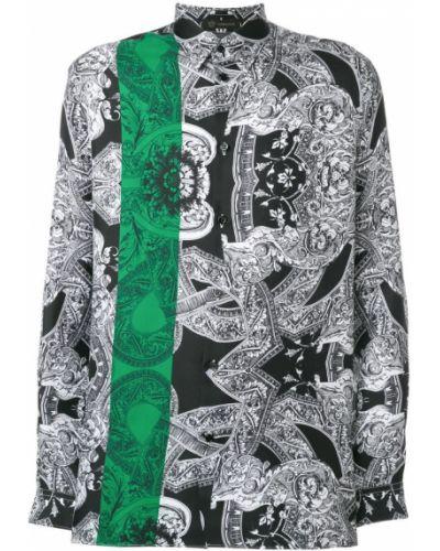 Рубашка с длинным рукавом шелковая Versace