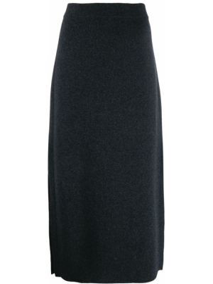 Шерстяная юбка - серая Pringle Of Scotland