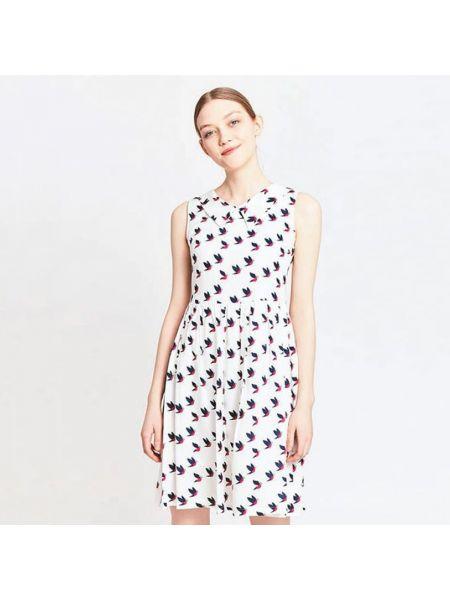 Платье мини без рукавов расклешенное Migle+me