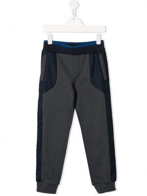 Свободные спортивные серые брюки с поясом Lanvin Enfant