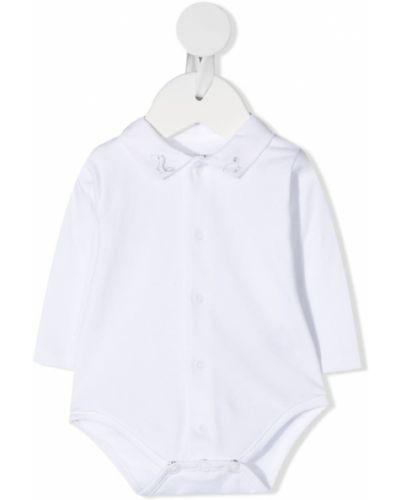 Хлопковая с рукавами белая рубашка на пуговицах Knot