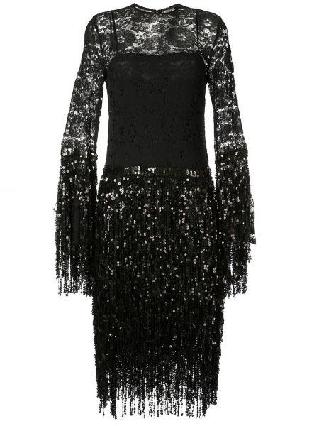Черное приталенное платье миди с вырезом круглое Romance Was Born