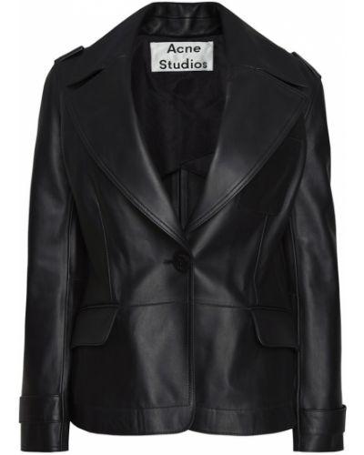 Кожаная куртка черная на пуговицах Acne Studios