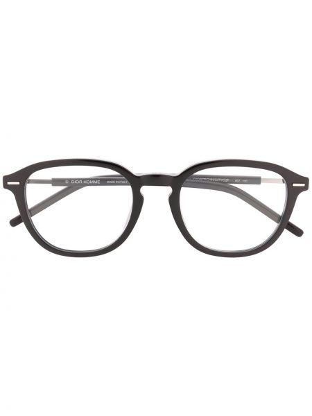Prosto czarny oprawka do okularów okrągły Dior Eyewear