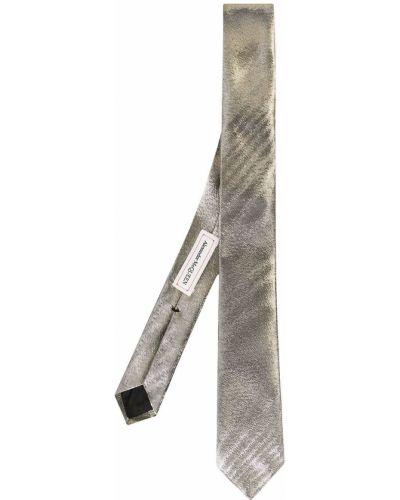Золотистый галстук золотой металлический Alexander Mcqueen