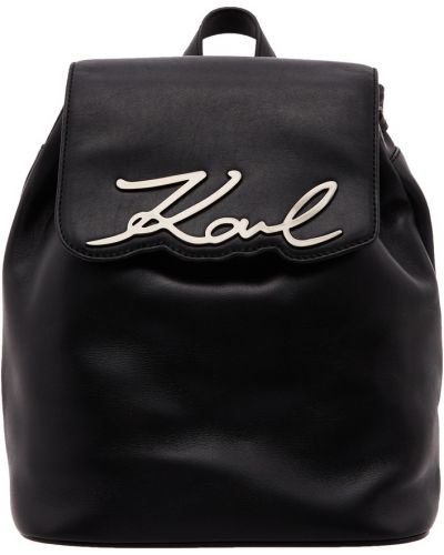Кожаный рюкзак на шнуровке черный Karl Lagerfeld