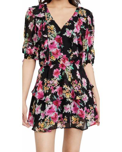 Платье с декольте - черное Yumi Kim