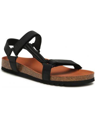 Sandały skórzane - czarne Scholl