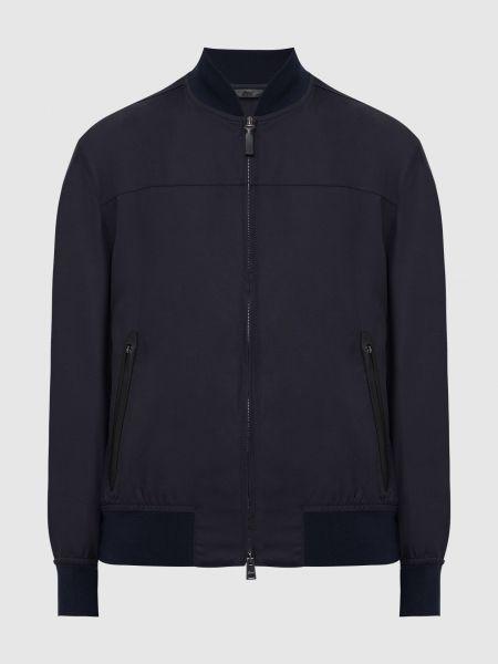 Шелковая черная куртка Brioni