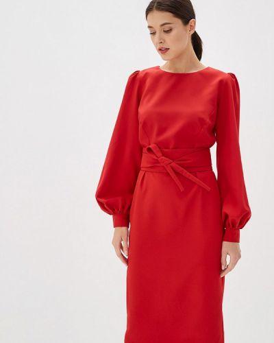 Платье прямое красный Irina Vladi
