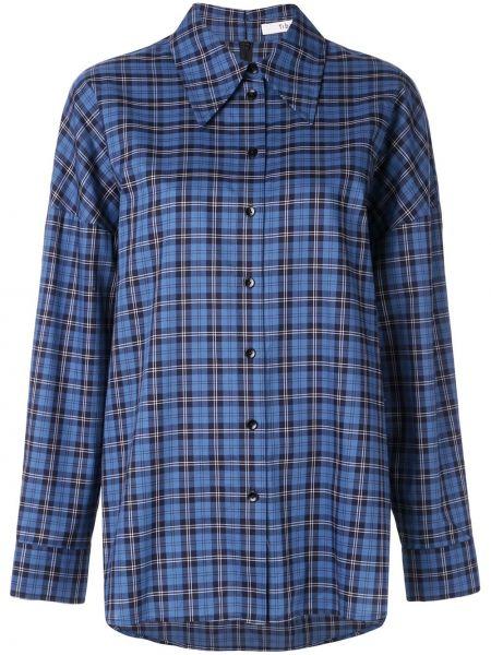 Koszula w kratę - niebieska Tibi
