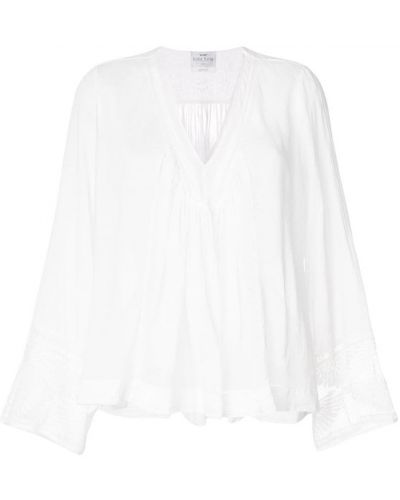 Блузка с длинным рукавом с V-образным вырезом прозрачная Forte Forte