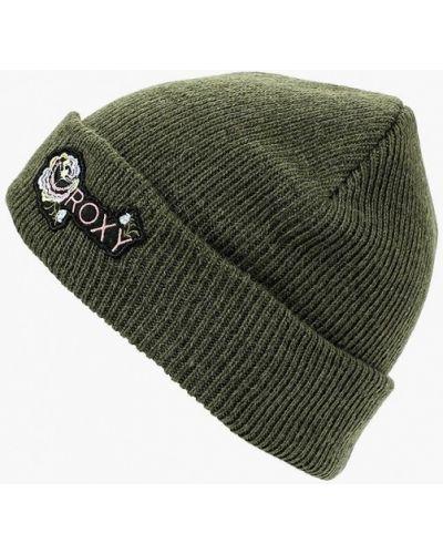 Зеленая шапка осенняя Roxy