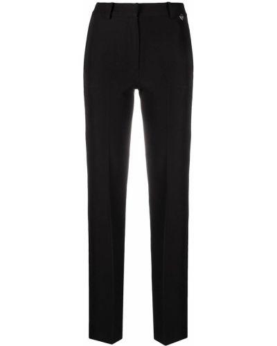 Брючные черные брюки дудочки с карманами Twin-set