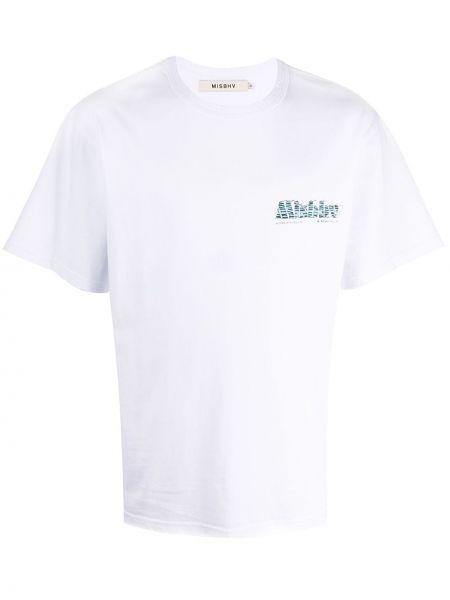 Koszula krótkie z krótkim rękawem prosto z logo Misbhv
