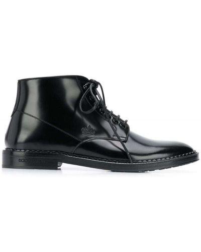 Ботильоны кожаный для обуви Dolce & Gabbana