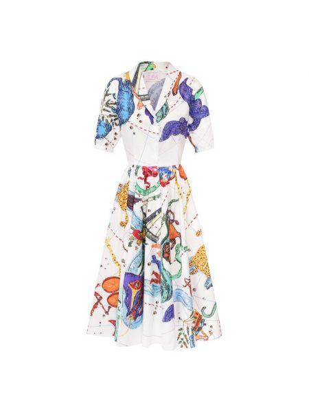 Хлопковое белое платье Stella Jean