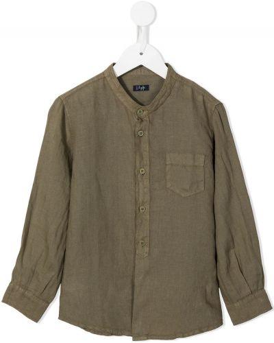 Lniana koszula - zielona Il Gufo