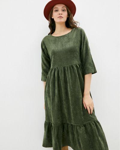 Прямое платье - зеленое Vivostyle