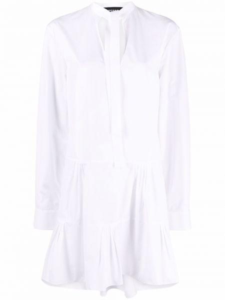 Biała sukienka długa z długimi rękawami bawełniana Rochas