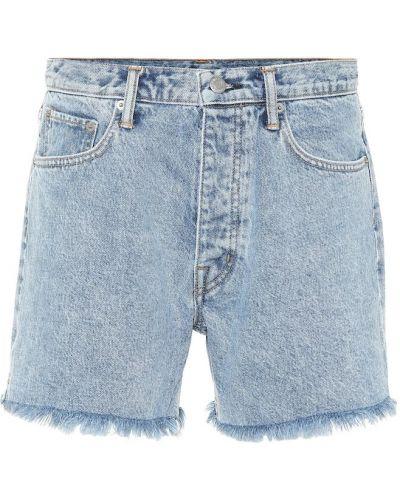 Повседневные джинсовые шорты со стразами Helmut Lang