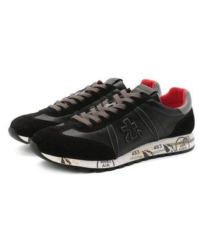 Комбинированные кожаные кроссовки с подкладкой Premiata